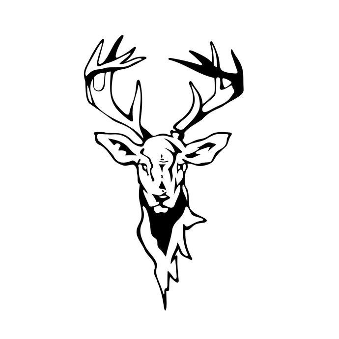 690x690 Deer Head Graphics Design Svg, Dxf, Eps, Png, By Vectordesign