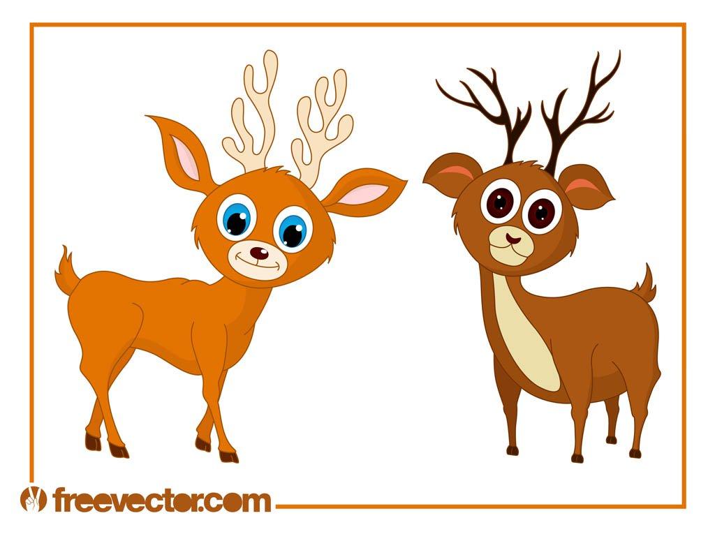 1024x765 Cute Cartoon Deer Vector Art Amp Graphics