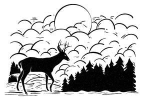 286x200 Deer Free Vector Art