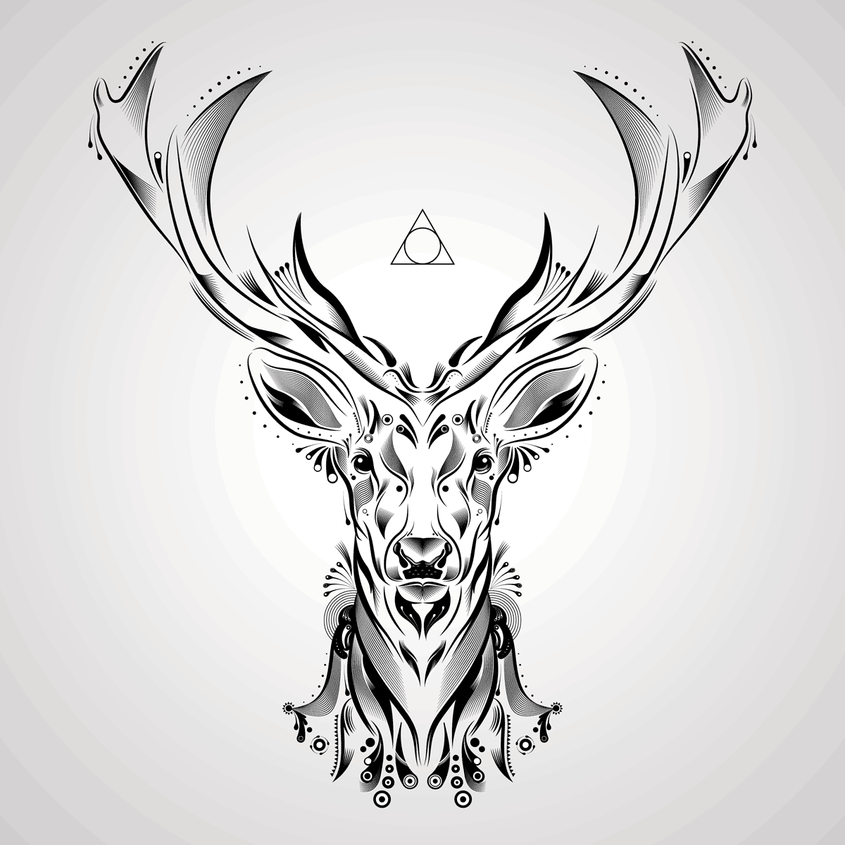 1200x1200 Deer Vector Art Rebelarts Nomadsamphippies Vector