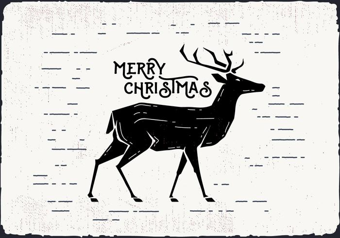 700x490 Free Christmas Deer Vector