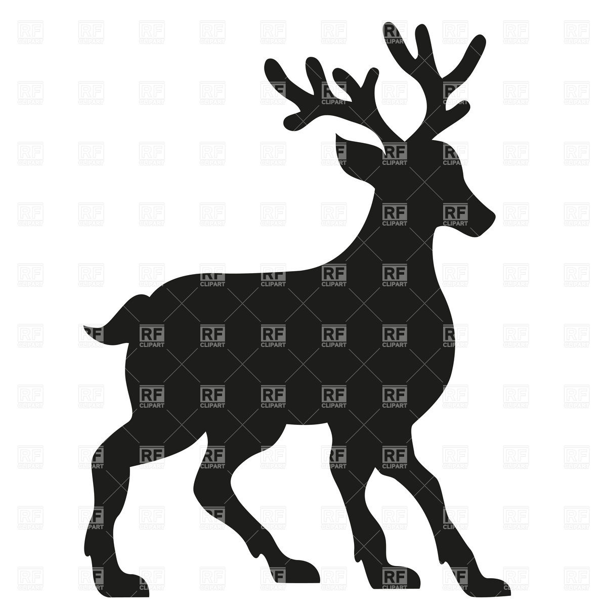 1200x1200 Silhouette Of A Deer Vector Image Vector Artwork Of Plants And