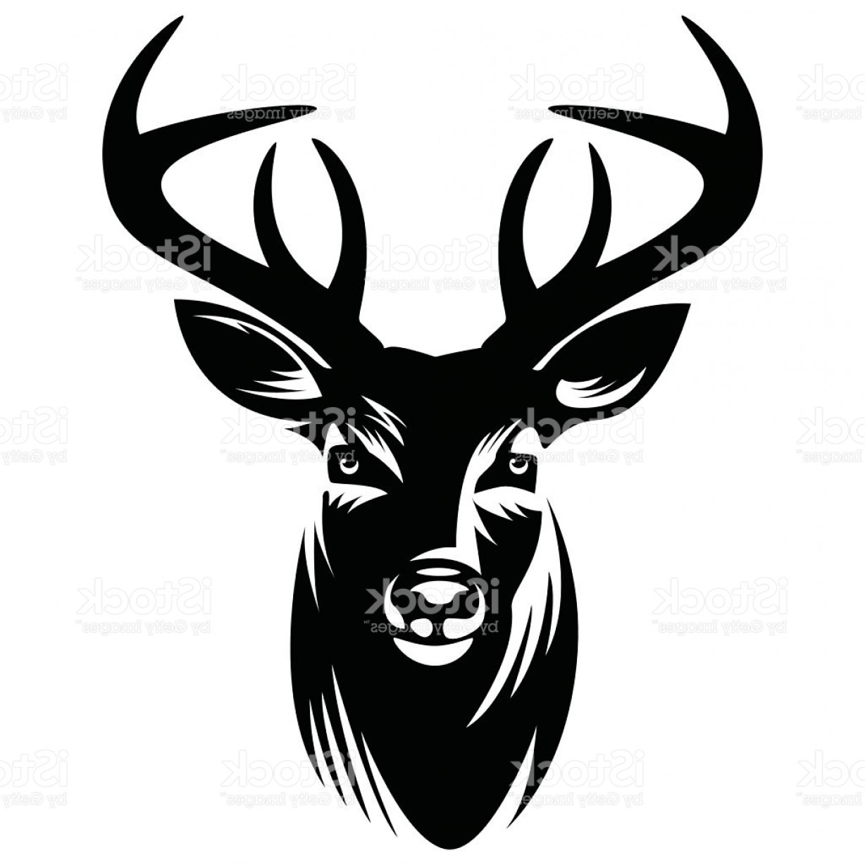 1228x1228 Vector Art Deer Head Lazttweet
