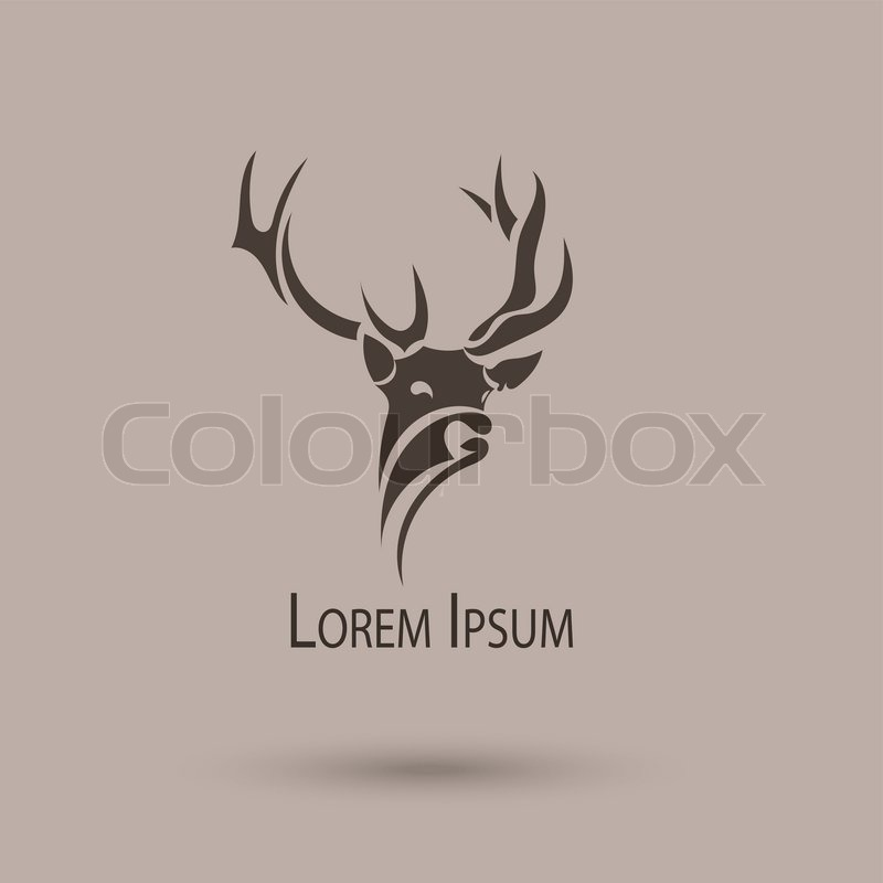 800x800 Vector Stylized Head Of A Deer. Abstract Art Logo Stock Vector
