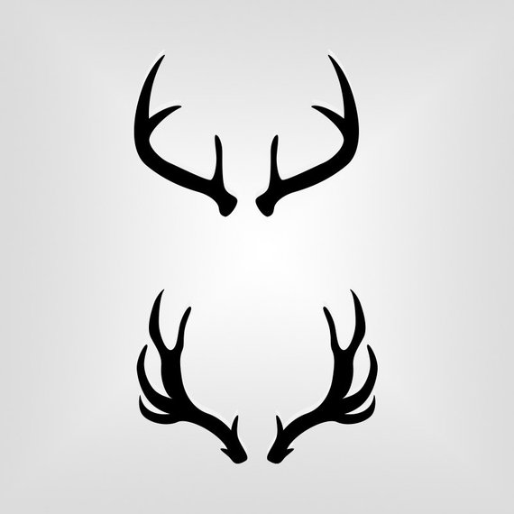 570x570 Deer Antlers Outline Silhouette Cutout Vector Art Cricut Etsy