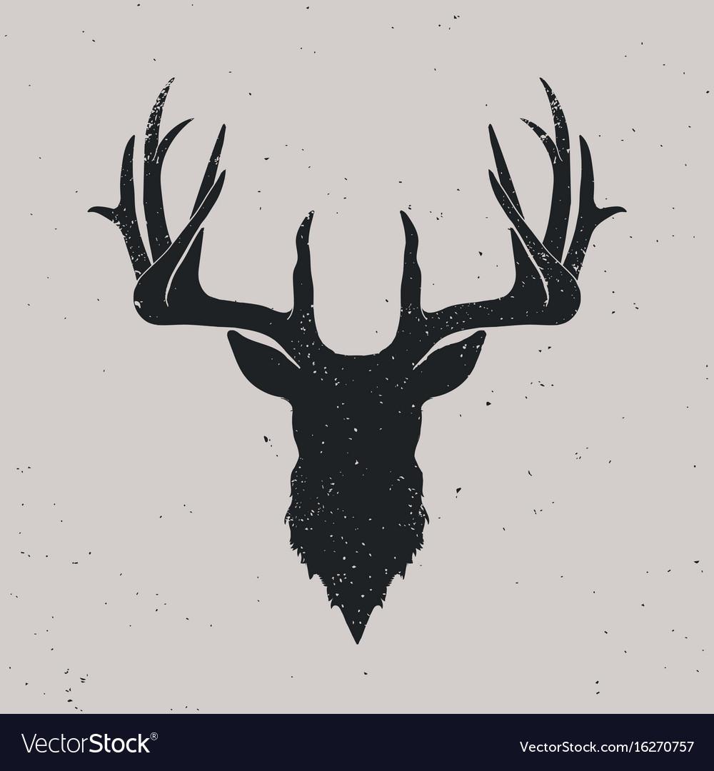 1000x1080 Deer Vector Illustration Stock Art More Images Of Showy Skull