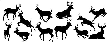 425x170 Free Download Of Deer Silhouettes Vector Material Vector Graphic