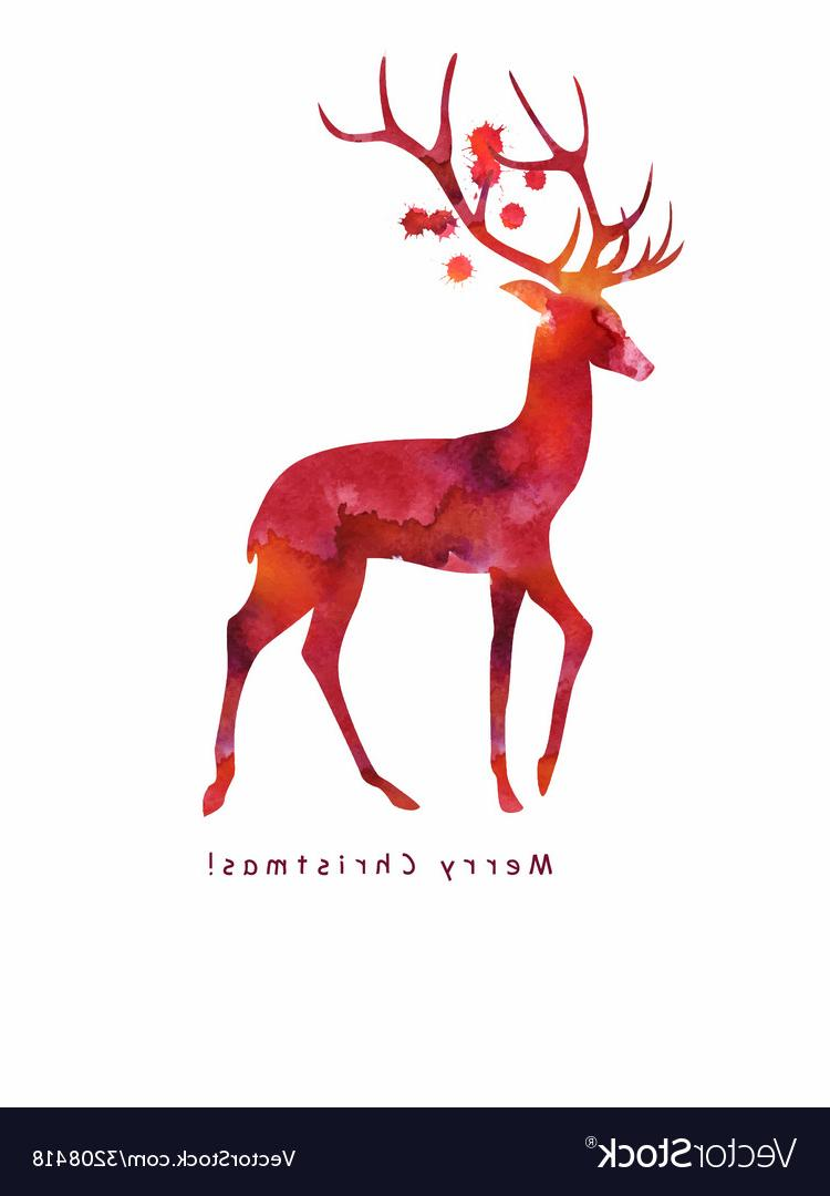 750x1080 Hd Christmas Deer Vector File Free