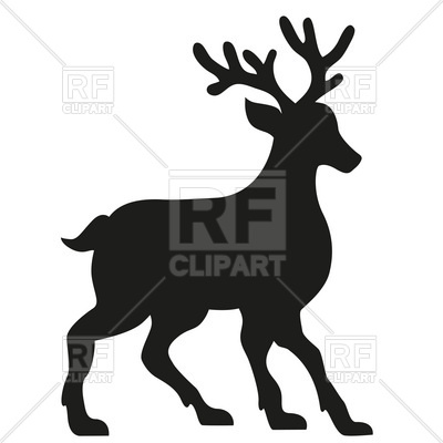 400x400 Silhouette Of A Deer Vector Image Vector Artwork Of Plants And