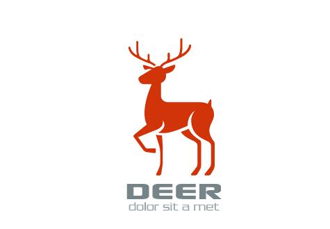 475x330 Simple Deer Logo Design Vector Free Download