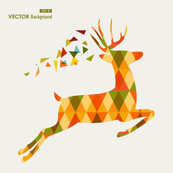 550x550 Tangram Deer Vector Background Eps Format Free Vector Download