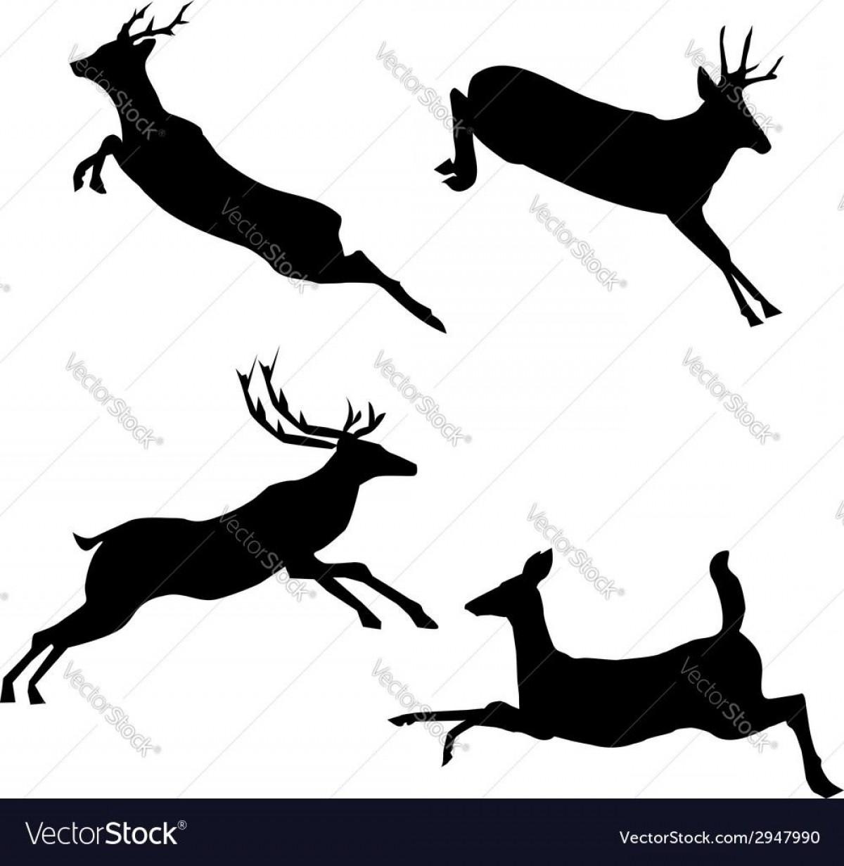 1200x1231 Top Jumping Deer Vector File Free Lazttweet