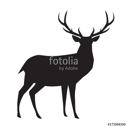 500x500 Graphic Deer, Vector Stock Image And Royalty Free Vector Files On
