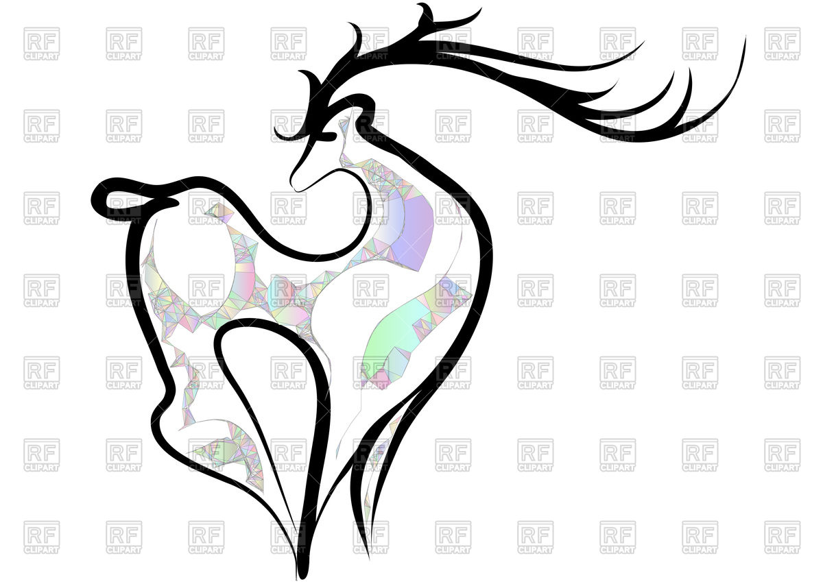1200x849 Abstract Deer Vector Image Vector Artwork Of Plants And Animals