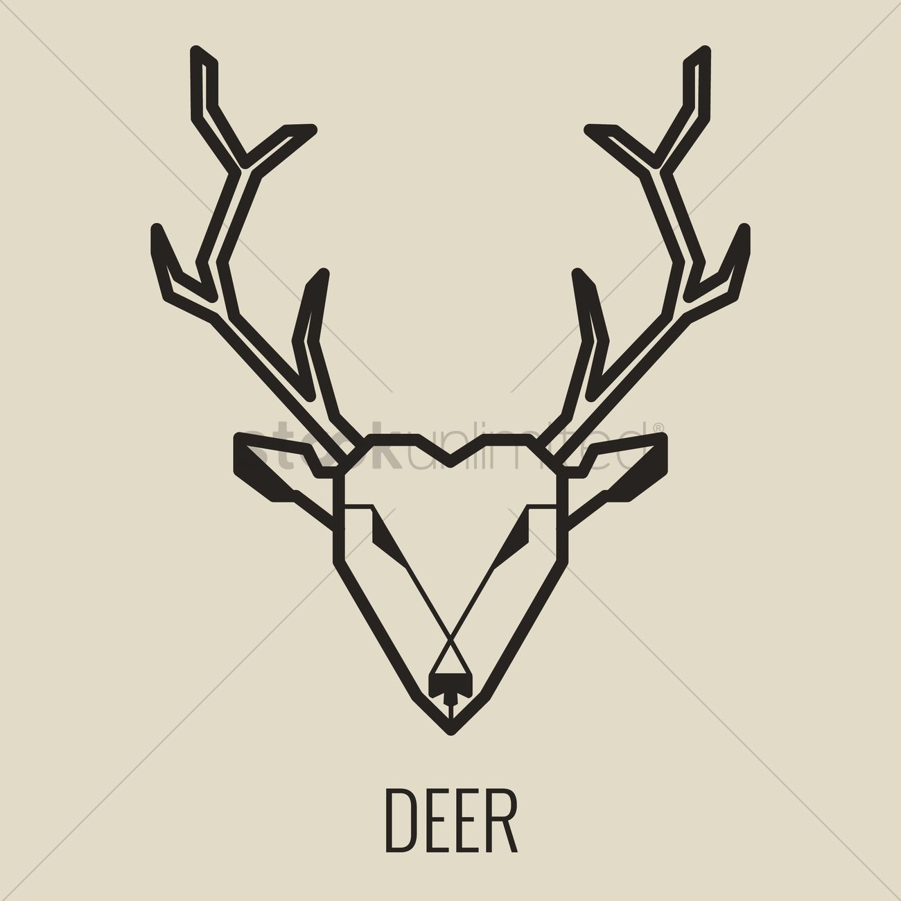 1300x1300 Deer Vector Image