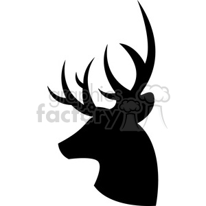 300x300 Royalty Free Side Silhouette Buck Deer Illustration Silouhette