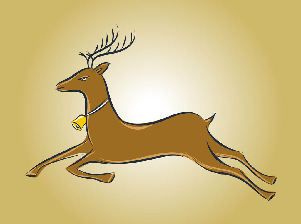 1024x765 Running Deer Vector Vector Art Amp Graphics