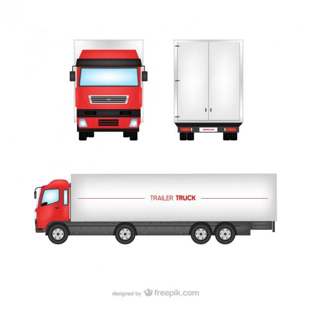 626x626 Trailer Truck Vector Free Download