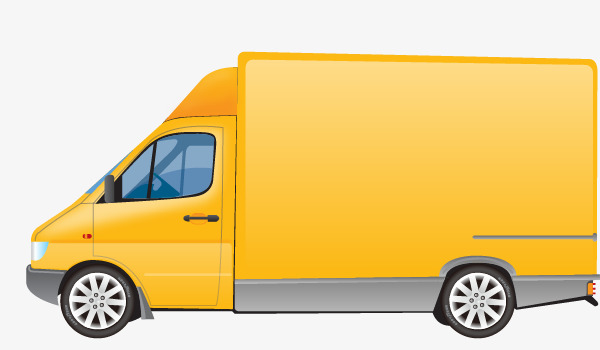 600x350 Vector Delivery Truck, Truck Vector, Truck Clipart, Yellow Png And