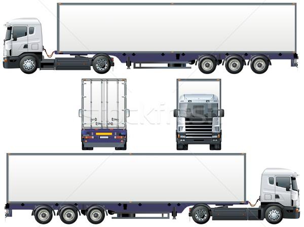 600x448 Vector Delivery Cargo Truck Vector Illustration Mechanik