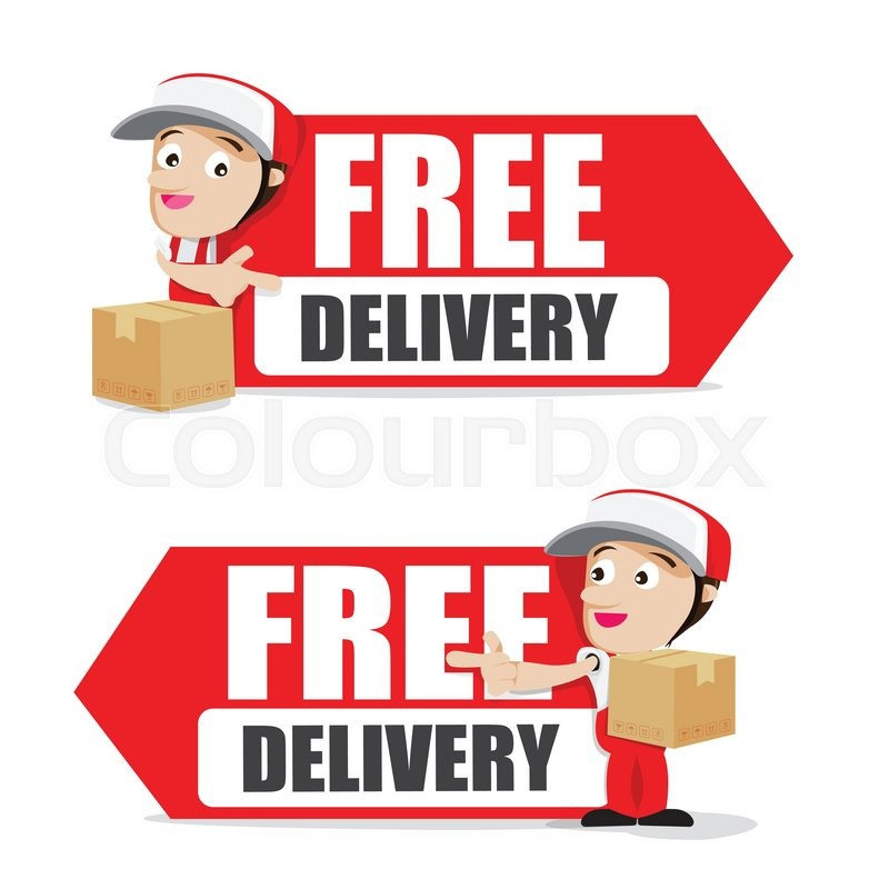 800x800 Smile Delivery Man Handling The Box And Package Delivery Cartoon