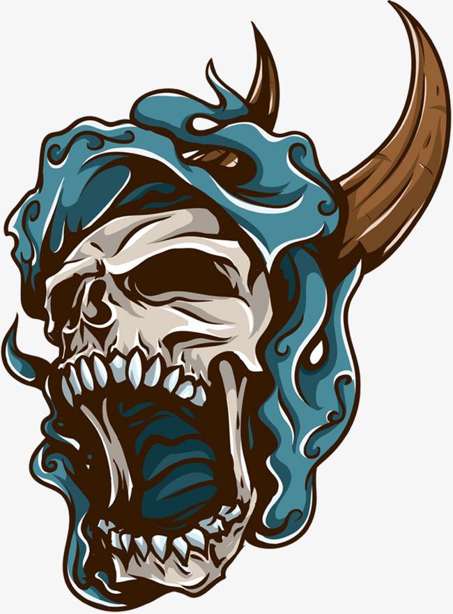 650x880 Roaring Demon Skull, Skull, Demon, Roar Png And Vector For Free