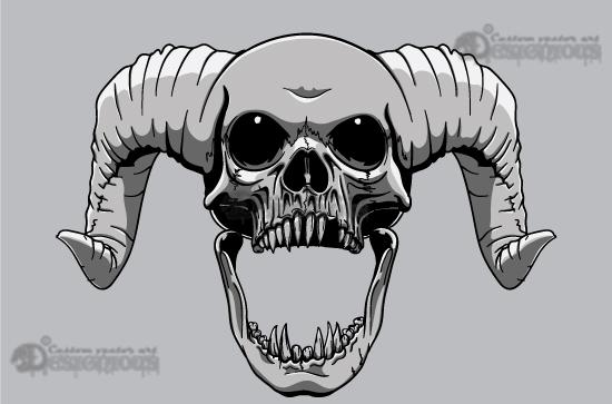 550x363 Skulls Vector Pack 21 Vector Demon Skull