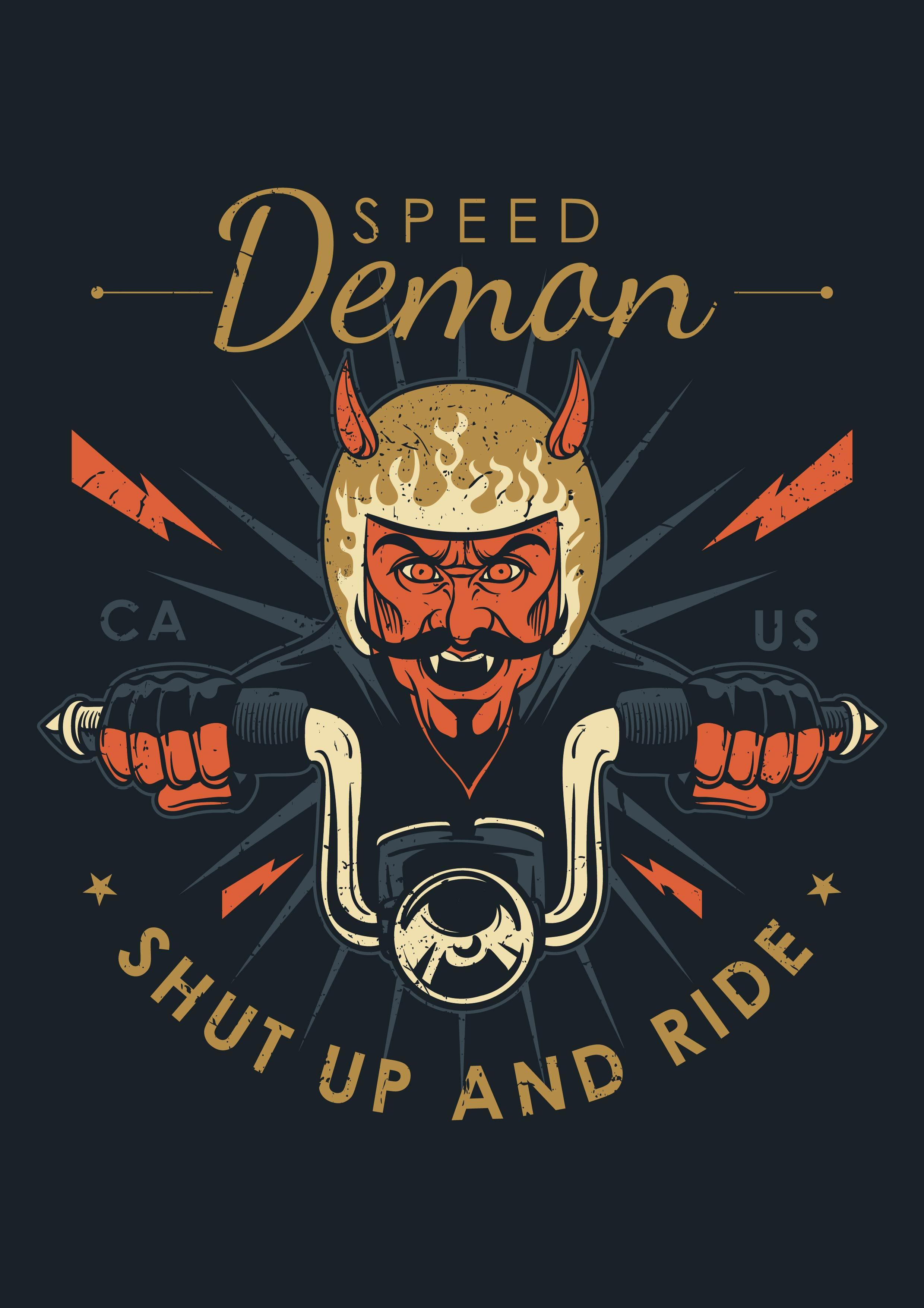 2480x3508 Demon Free Vector Art