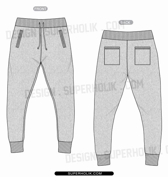 551x580 Denim Jacket Template Luxury Jogger Pants Vector Template