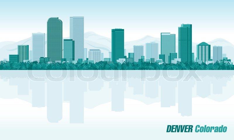 800x480 Denver Colorado, Detailed Vector Skyline Stock Vector Colourbox