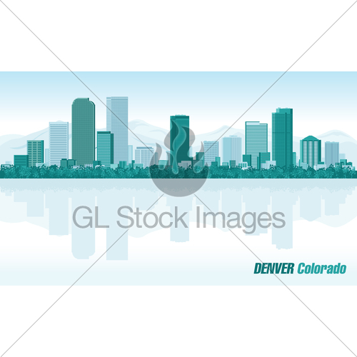 500x500 Denver Colorado Detailed Vector Skyline Gl Stock Images