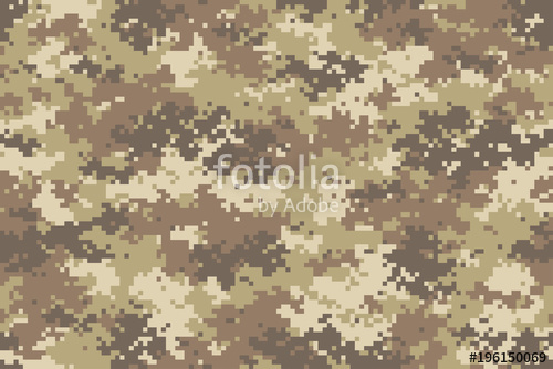 500x334 Desert Camouflage Seamless Pattern. Trendy Style Pixel Camo