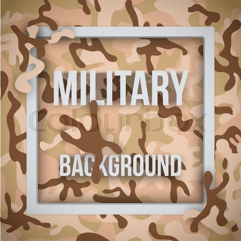 800x800 Military Modern Desert Camouflage Background With Tags. Army