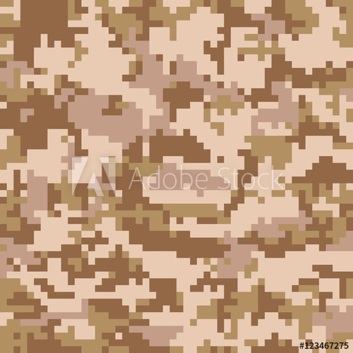500x500 Seamless Digital Desert Camouflage Pattern Vector