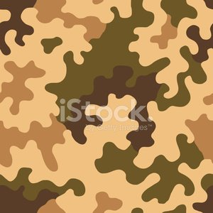 300x300 Camouflage Vector Seamless Tile (Desert Amoeba) Stock Vectors