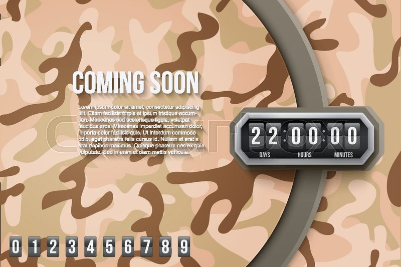 800x533 Creative Military Desert Camouflage Background Coming Soon And