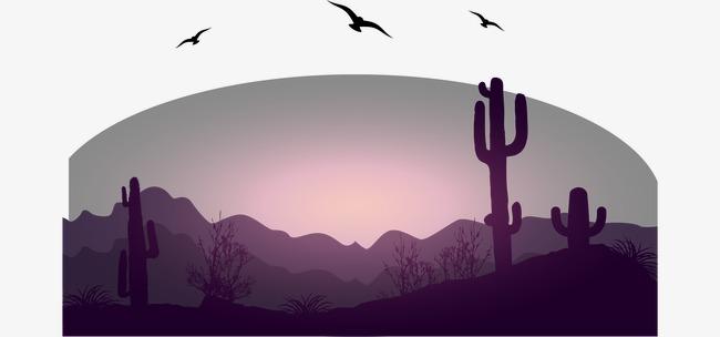 650x304 Vector Desert Landscape Illustration, Landscape Vector, Desert