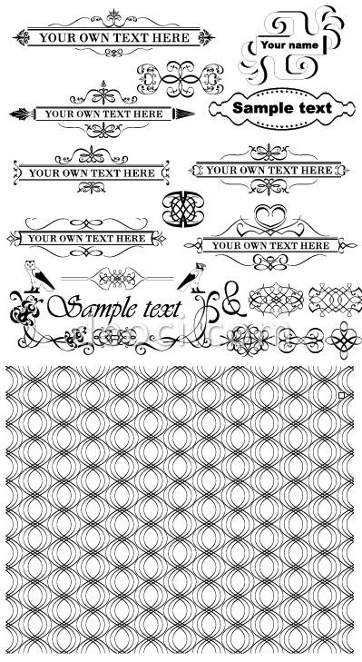 399x729 European Border Lace Design Elements Vector Free Download