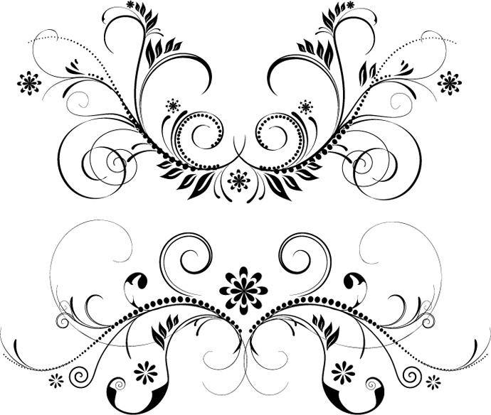 690x584 Floristic Design Elements Vectors Bing Gallery