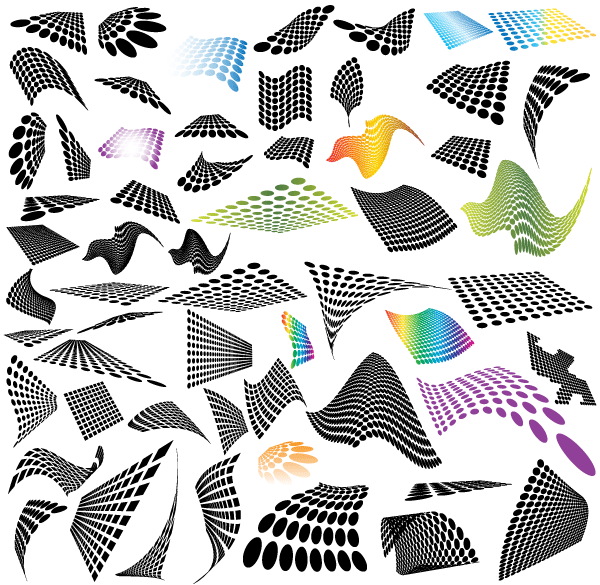 600x585 Free 50 Abstract Halftone Design Elements Free Psd Files, Vectors