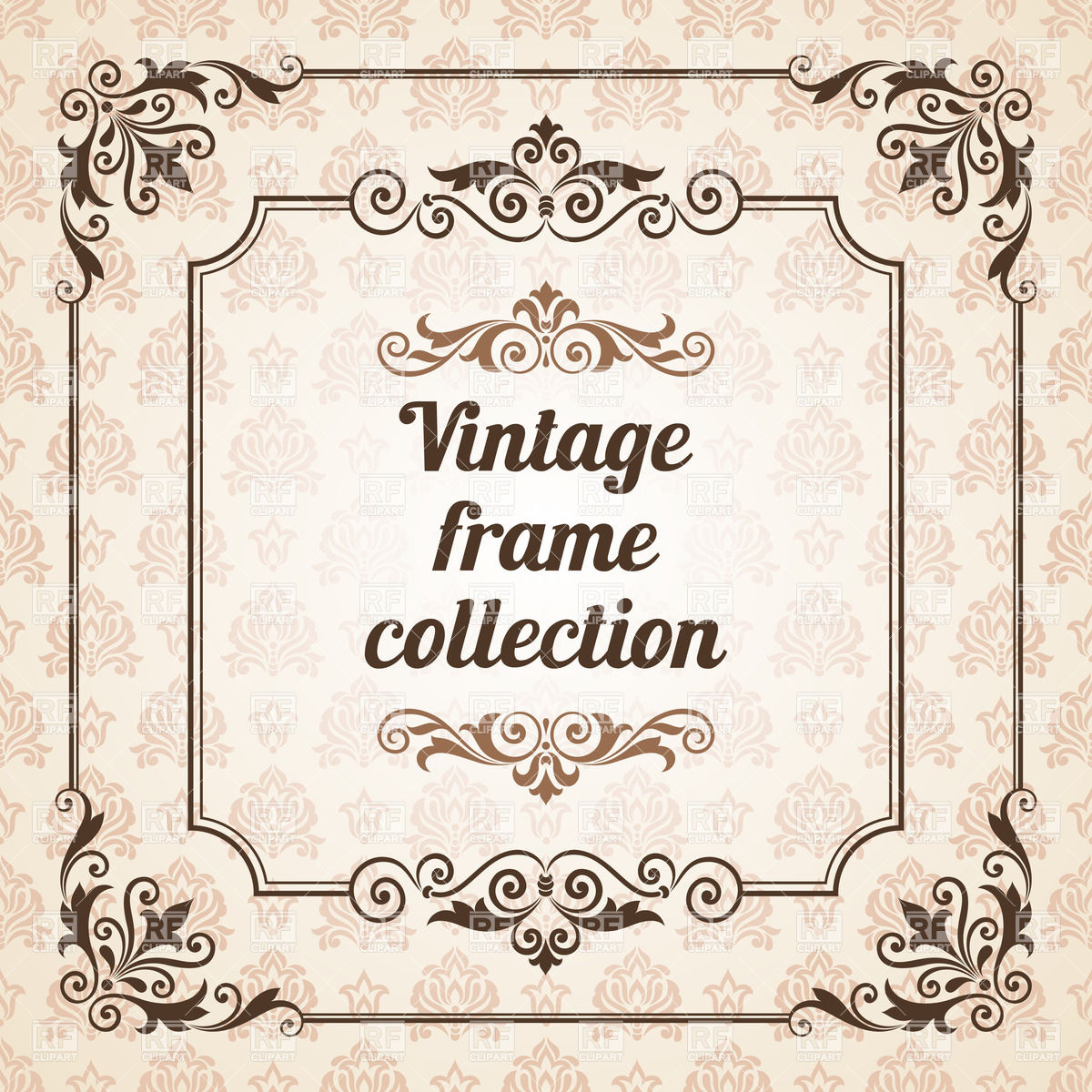 1200x1200 Vintage Frames And Design Elements Vector Image Vector Artwork