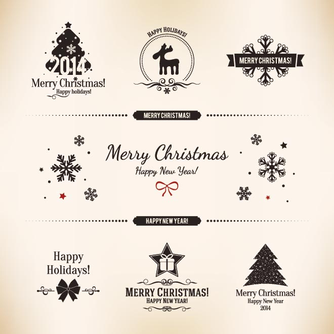 660x660 Christmas Vector Free Download Free Vector Vintage Label Card