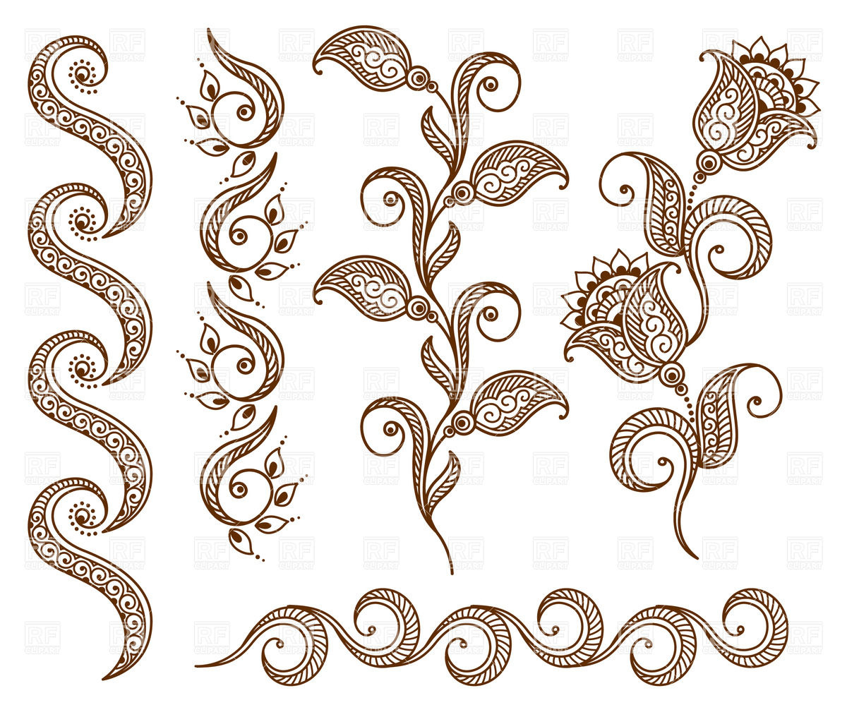 1200x999 Collection Of Floral Ornamental Design Elements Vector Image