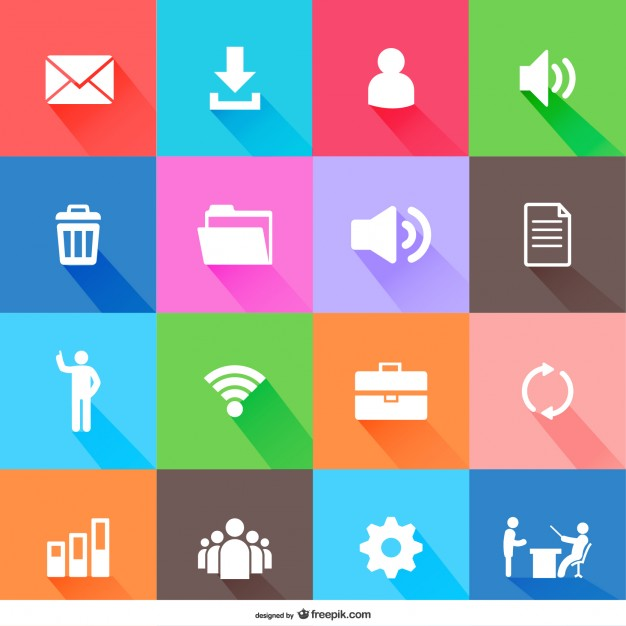 626x626 Flat Web Elements Icons Vector Free Download