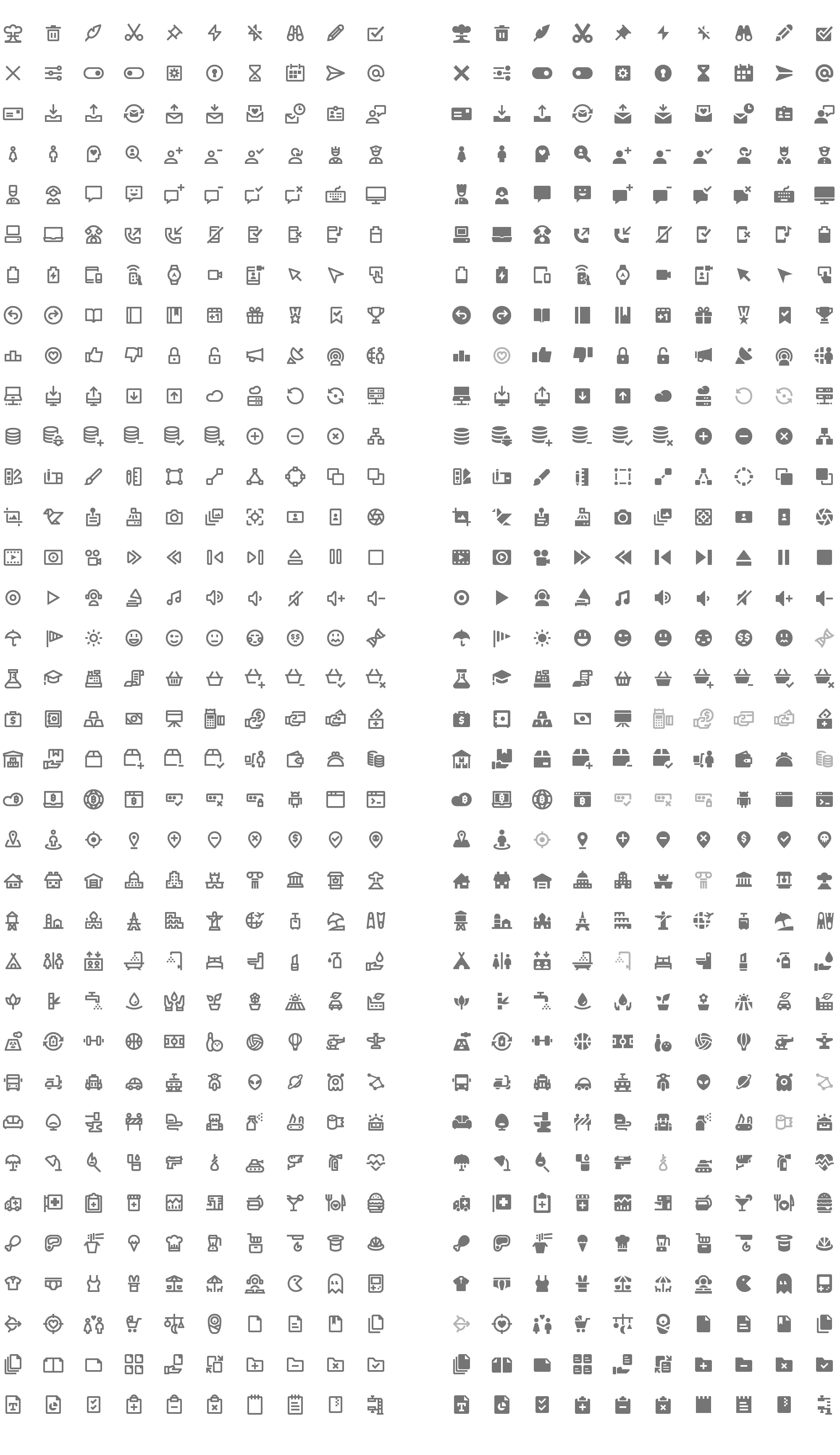 2000x3462 350 Free Vector Icons. Google Material Design Icons Style.