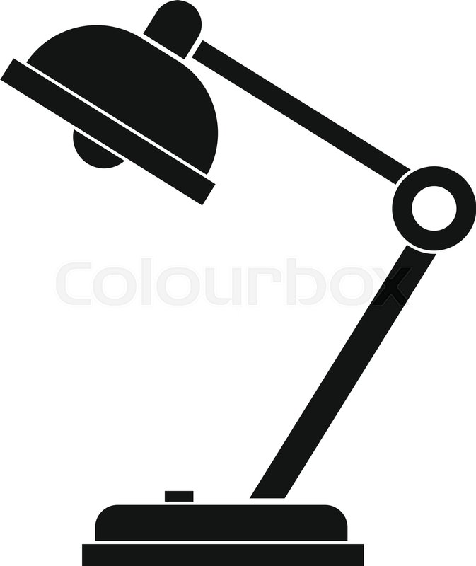 673x800 Desk Lamp Icon. Simple Illustration Of Desk Lamp Vector Icon For