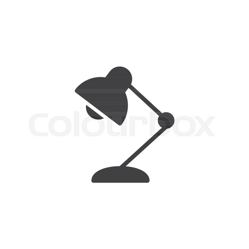 800x800 Desk Lamp Vector Icon. Filled Flat Sign For Mobile Concept And Web