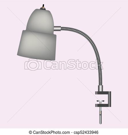 446x470 Desk Lamp Vector. Lamp Illustration For Read And Study.