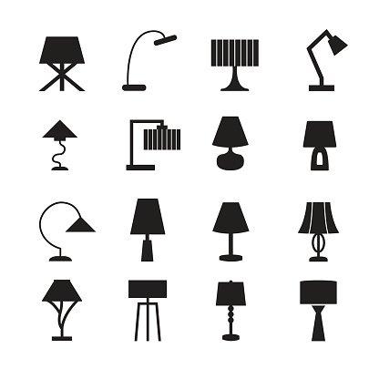 416x416 Lamp Vector,desk Lamp, Decorate Lamp Icon Set Stock Vectors