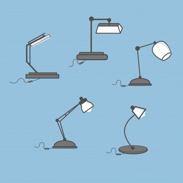 626x626 Monochrome Desk Lamp Vector Premium Download